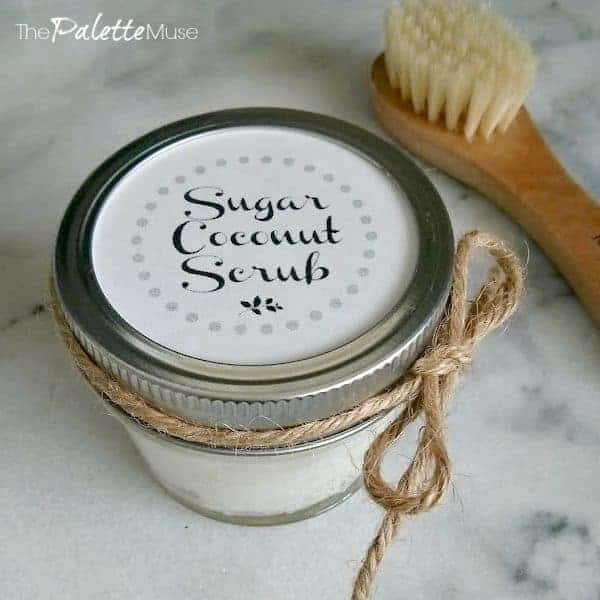 Gifts from Your Kitchen - Sugar coconut scrub - The Palette Muse