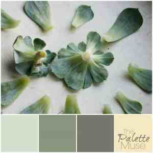 This soft palette uses greens, yellow, and gray - perfect for a nursery.