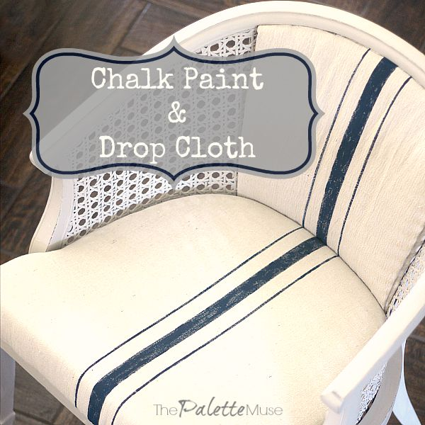 How to remake a chair with Americana Decor Chalky Finish Paint a drop cloth  sc 1 st  The Palette Muse & A Chair Reborn of Chalk Paint and a Drop Cloth - The Palette Muse