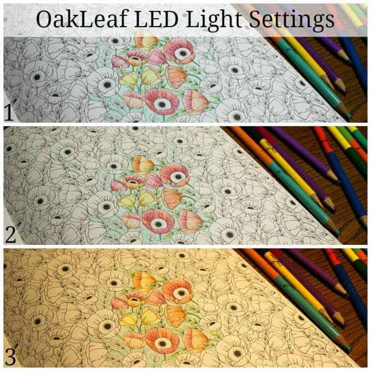 Oakleaf-LED-light-settings