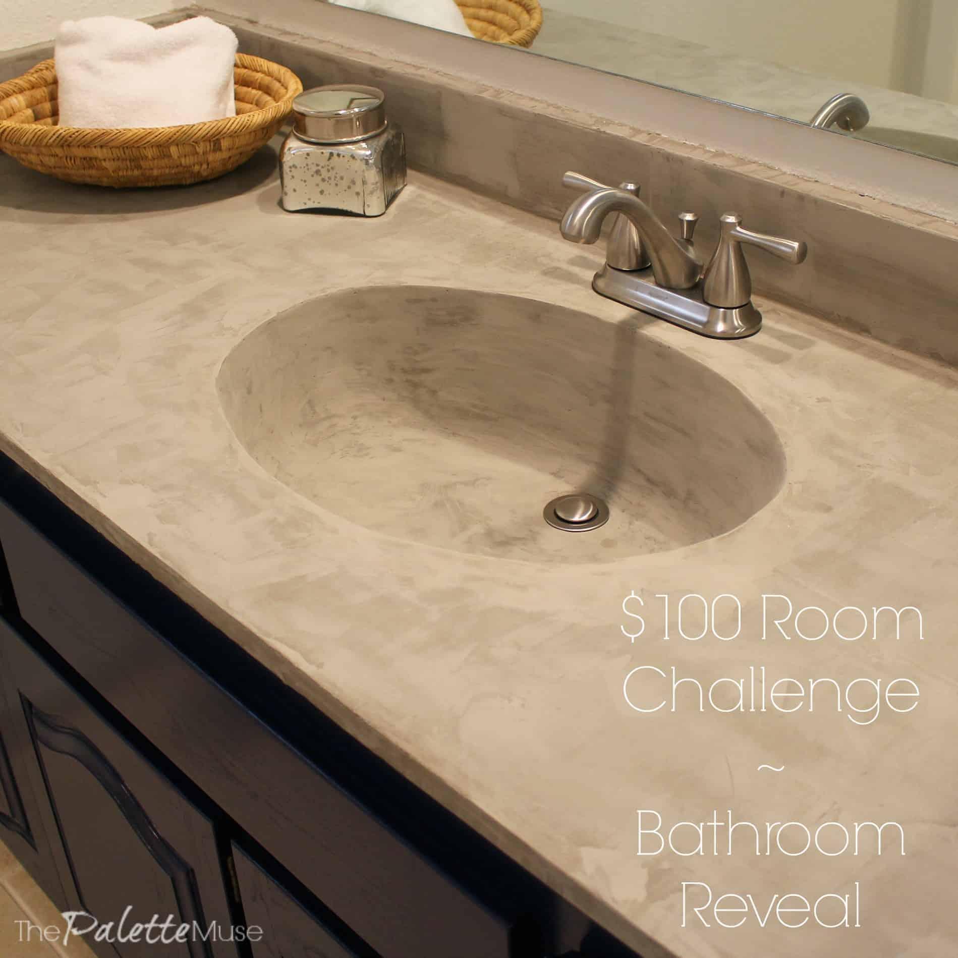Laundry Room Color Palette: $100 Room Challenge Bathroom Reveal