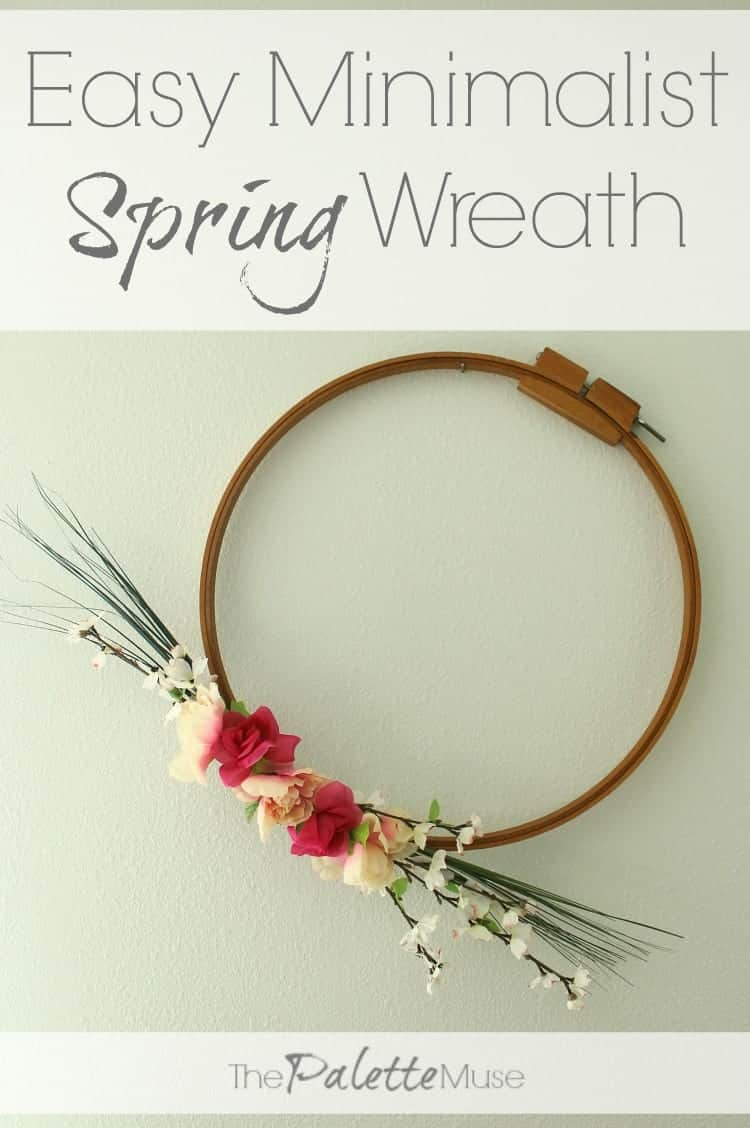 Easy minimalist spring wreath in 15 minutes!