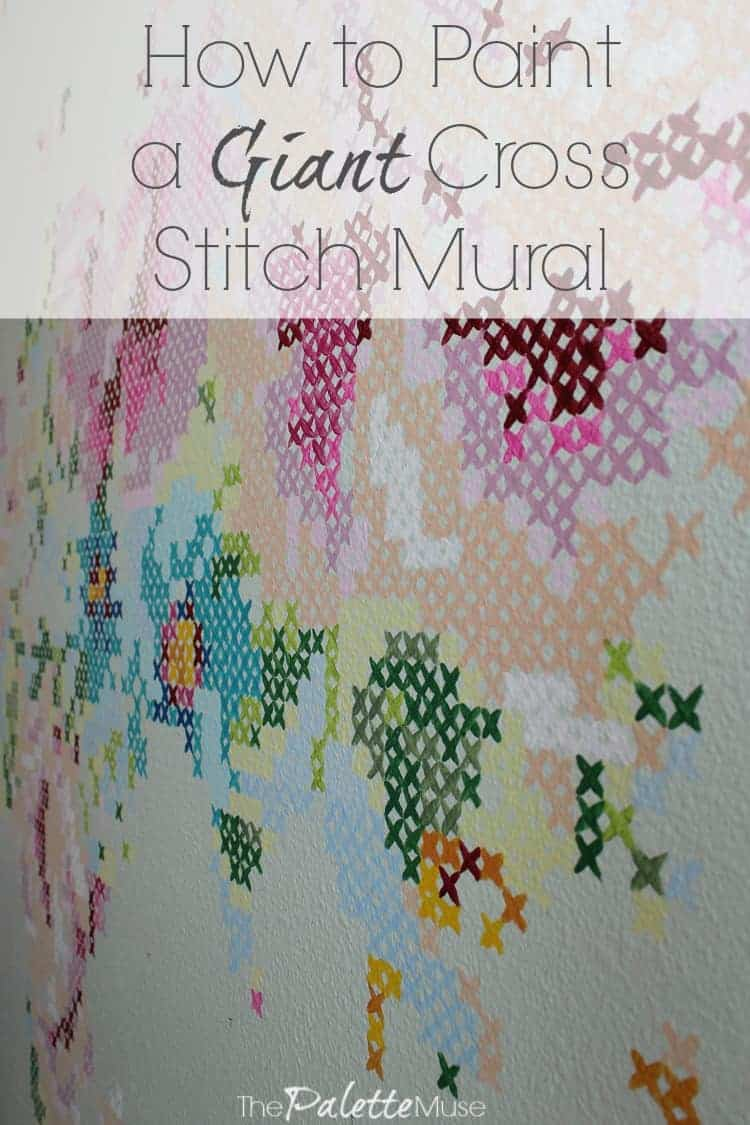 How to Paint a Giant Cross Stitch Mural