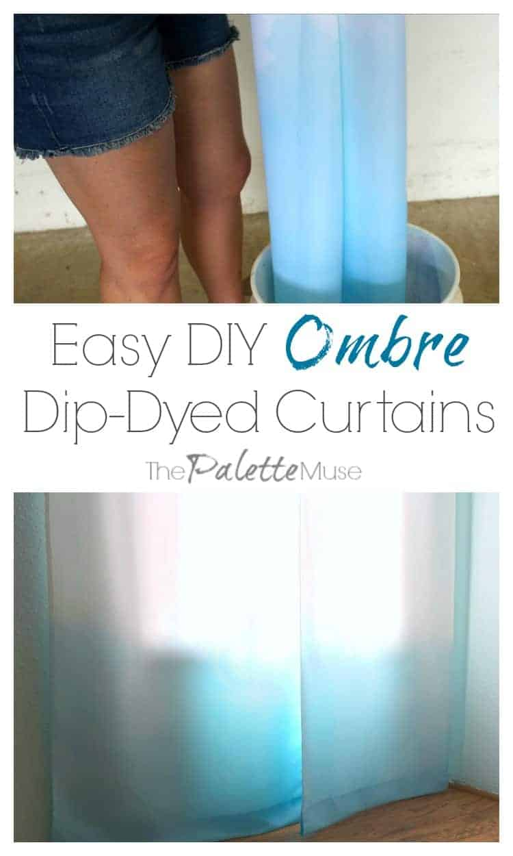 Dip Dyed Ombre Curtain Makeover 100 Room Challenge