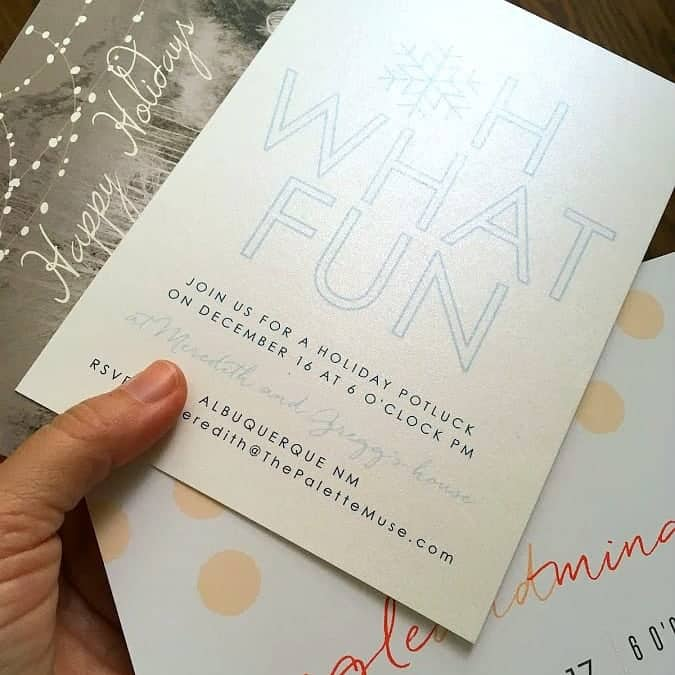 Shimmer Paper for Holiday Invitations