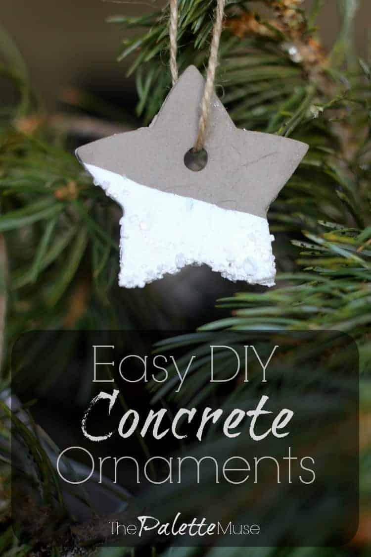 Easy DIY Concrete Christmas Ornaments