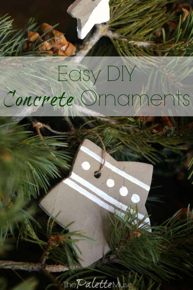 Easy DIY concrete ornaments you can make in a weekend with leftover supplies!