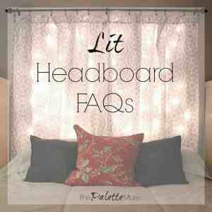 Lit Headboard Frequently Asked Questions