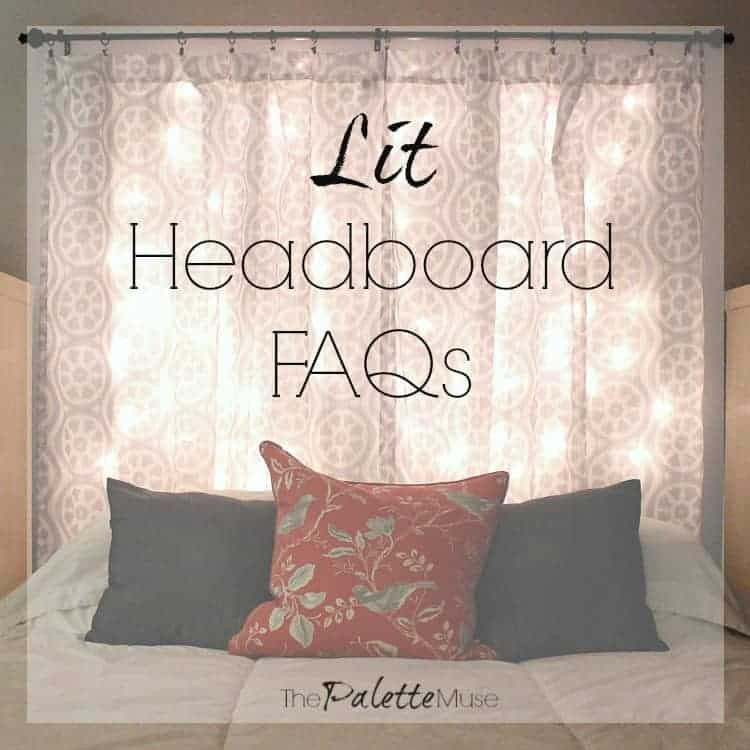 I'm answering all your questions about making your own headboard out of curtains and Christmas lights