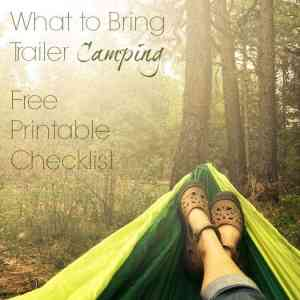 Trailer Camping Checklist Free Printable