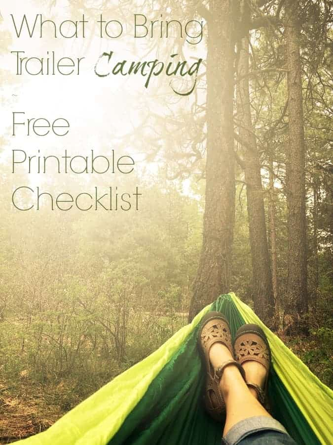 get outside with a free camping checklist the palette muse