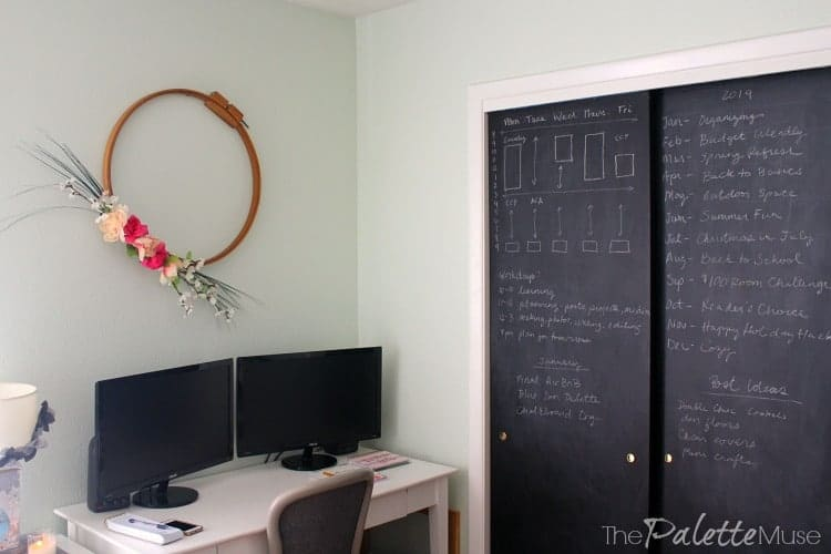 If you run out of space to write at your desk, how about the walls?