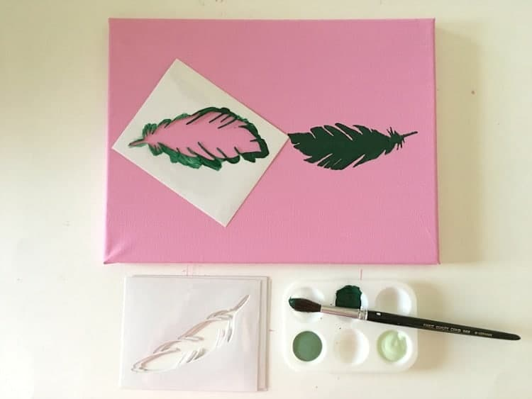 Color palette art is easy with stencils!