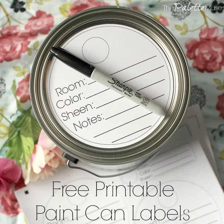 Keep your paint cans organized with these handy labels! #freeprintable #organizing #paint