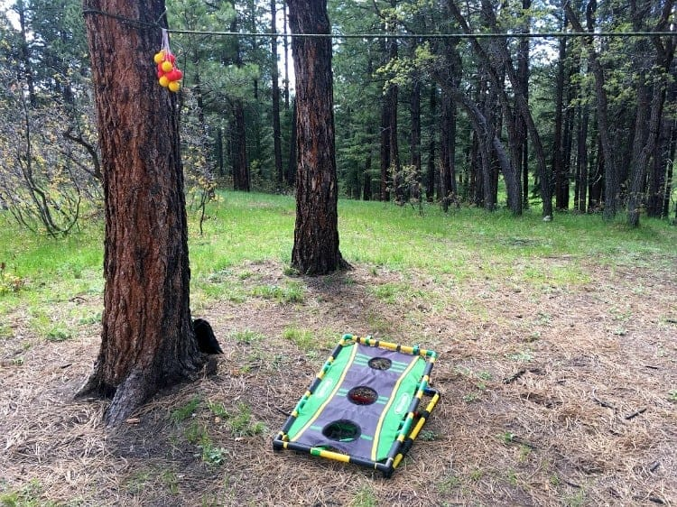 Bring a set of lawn games on your next camping trip to keep everyone entertained