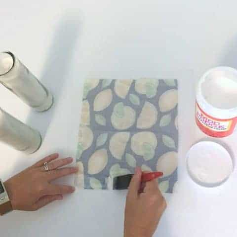 Easy Mod Podge Candle Makeover