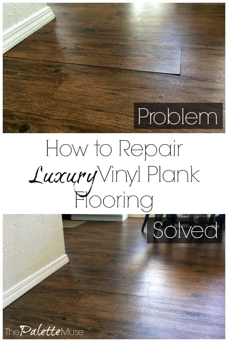 Is your luxury vinyl plank flooring peeling up? Here's how to fix it, and it's easier than you might think! #flooring #diyprojects #luxuryvinyl