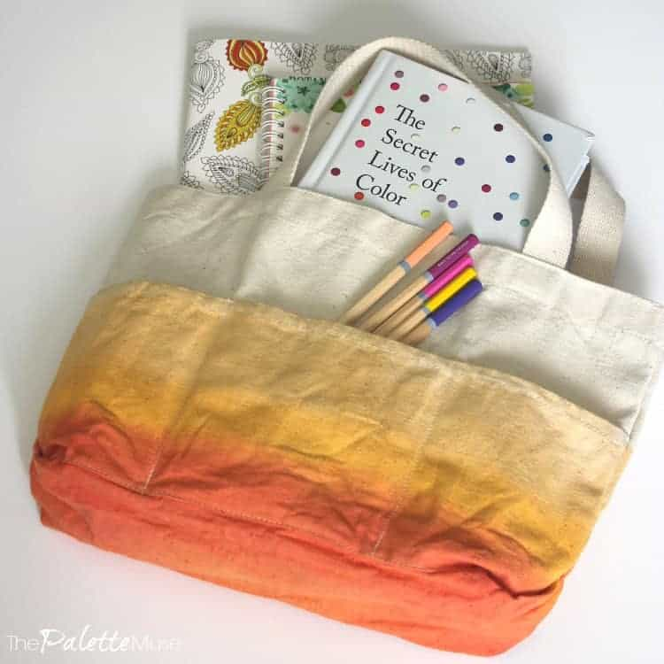 Move over kids, now mom gets her own busy bag! #busybag #dipdye #colorfun