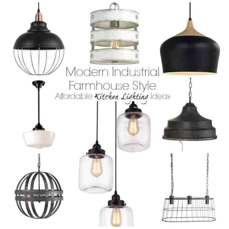 Modern Industrial Farmhouse Lighting Ideas.  Chandeliers, pendants for islands or breakfast tables. #kitchendesign #farmhouselighting #pendantlights