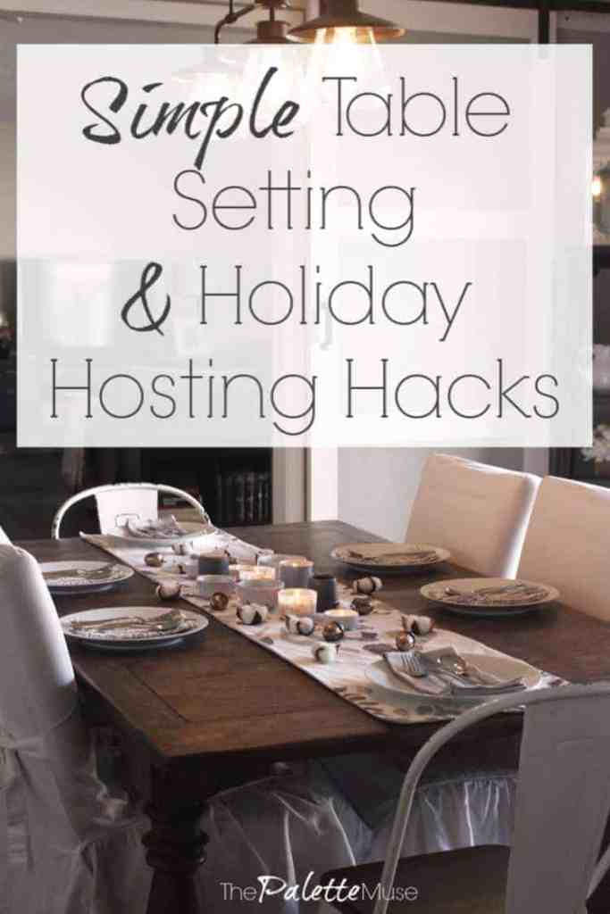 How to set a simple elegant table and make it easier to host a party, just in time fore the holidays!