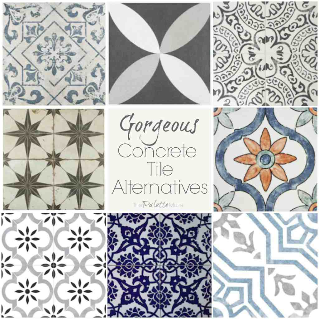 Collection of gorgeous concrete tile alternatives