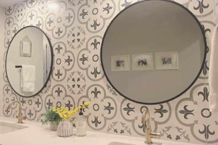 how to hang mirrors on tile 3 ways a