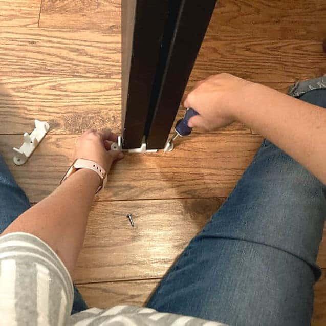 Replacing floor guide on sliding closet doors