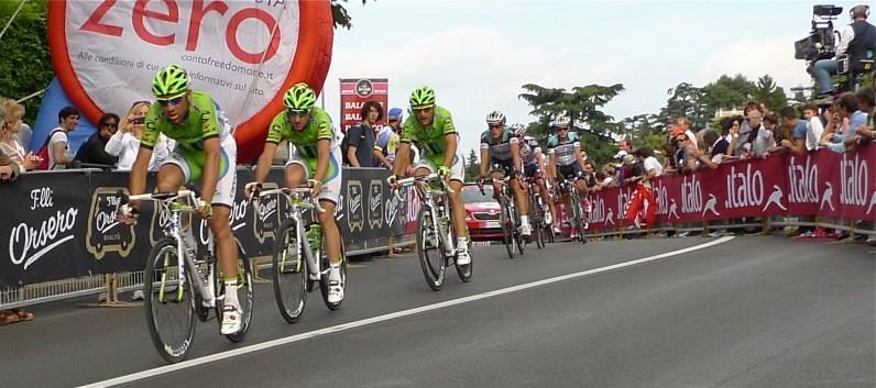 Lookin' good in lime green - Giro d'Italia 2013   ©Tom Palladio Images