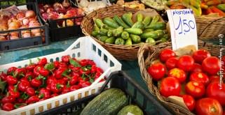 Fresh produce in the Roman Square - Senigallia, Italy | ©Tom Palladio Images