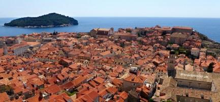 Terra cotta roofs of Dubrovnik, Croatia
