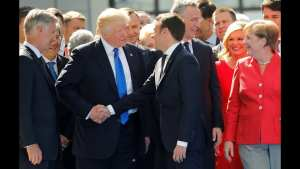 TRUMP IN FRANCE: THE ALPHA MALE STRIKES AGAIN