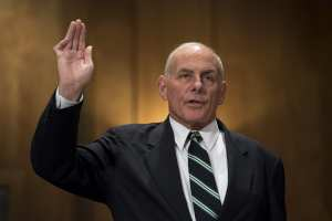 BOOM!: John Kelly said the United States should admit between Zero and One refugees per year