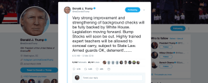 Trump: 'Bump Stocks will soon be out'