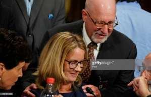 FRAUD! Christine Ford not even watching Kavanaugh testimony