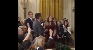GROSS! Jim Acosta tomahawks female WH staffer