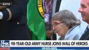 WATCH! 98-Year-Old Army nurse becomes first female on VA Wall of Heroes