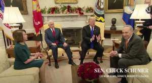 Trump fights for the wall vs Pelosi and Schumer in heated Oval Office debate