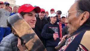 FAKE NEWS! MSM claims Native American was mocked by MAGA Hat wearing teen