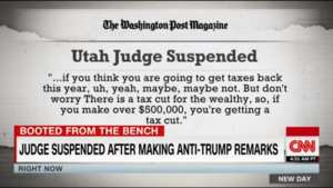 Judge suspended after bashing Trump in court, on Social Media