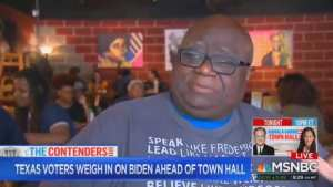 TEXAS VOTER! Biden 'has a terrible history in the black community'