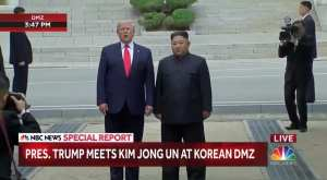 WATCH: Trump becomes first sitting President to step foot on North Korean soil