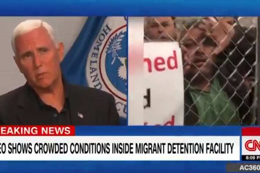 """Pence blasts CNN over """"dishonest"""" detention facility  coverage"""