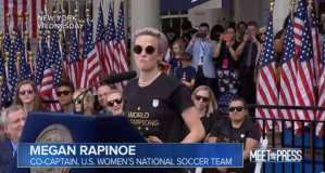 Rapinoe's father may have voted for Donald Trump