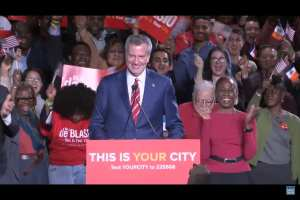 Blasio spent 7 hours working during election announcement month