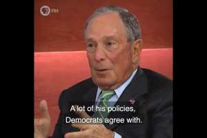 "Bloomberg: Dems agree with ""a lot"" of Trump's policies"
