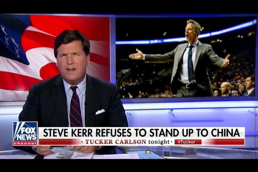 "Tucker Carlson blasts Steve Kerr: He ""is a phony"""