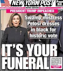NY POST: Trump's impeachment is Pelosi's funeral