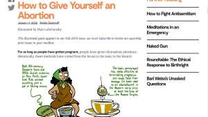 "Jewish Currents publishes ""how to give yourself an abortion"""