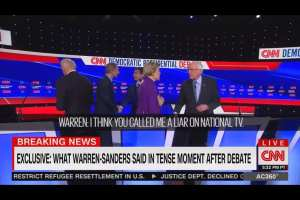 CNN releases audio of Bernie and Warren arguing after debate
