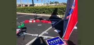 Six Trump Campaign volunteers targeted with car